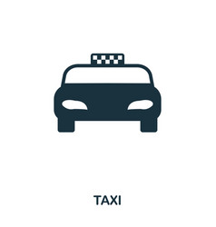 taxi icon mobile app printing web site icon vector image