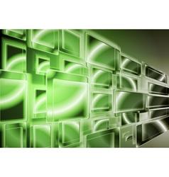 Technology green design vector image