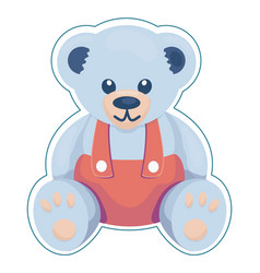 Teddy bear in overall vector
