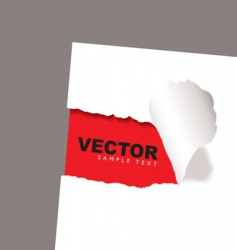torn paper reveal red vector image