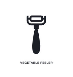Vegetable peeler isolated icon simple element vector