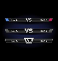 vs duel challenge set versus board rivals vector image
