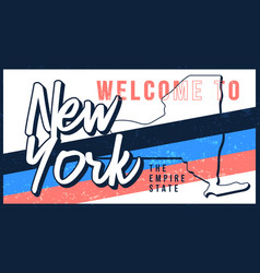 welcome to new york vintage rusty metal sign vector image
