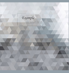 white and gray background geometric style mesh vector image