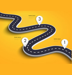Winding road on a colorful background road way vector