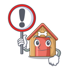 with sign cartoon funny dog house with dish vector image