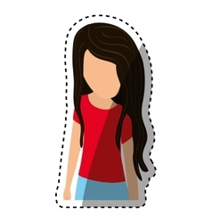 Young woman body complete vector