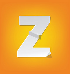 Z capital letter fold english alphabet new design vector