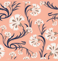 Carnations seamless pattern vector