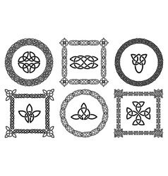 Celtic knots frames vector image vector image