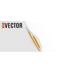 Curled Corner with Transparent Background vector image