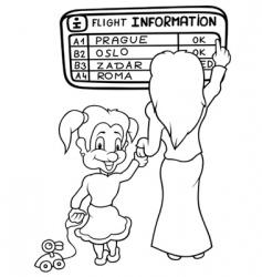 flight information vector image vector image