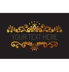 Hand drawn gold textured decorative border vector image