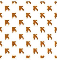 letter k from caramel pattern vector image