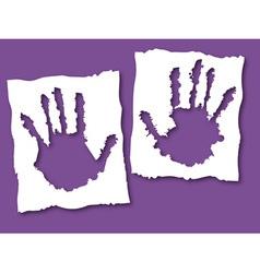 paper grunge hands vector image