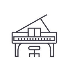 piano concert line icon sign vector image vector image