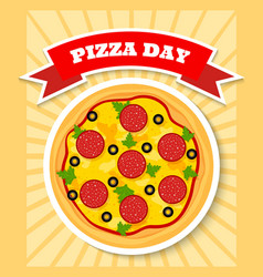 pizza day vector image vector image