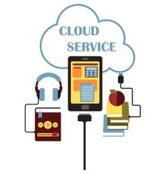 Cloud Service concept vector image