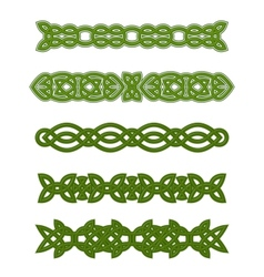 Green celtic ornaments and embellishments vector image vector image