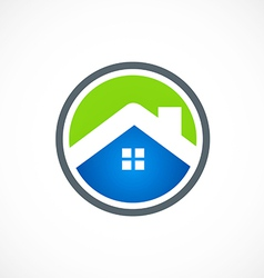 home roof business construction icon logo vector image