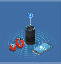 internet of things isometric composition vector image vector image