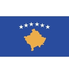 Kosovo flag image vector image vector image