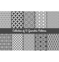Modern geometric patterns vector image vector image