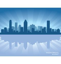 Montreal Canada skyline vector image vector image