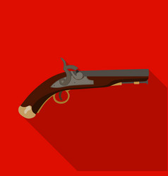 pistol icon in flat style isolated on white vector image