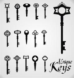 Unique keys vector