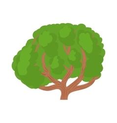 Big green tree icon in cartoon style vector image vector image