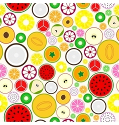 Bright fruit seamless background vector image vector image