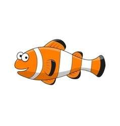Cartoon tropical clown fish character vector image vector image