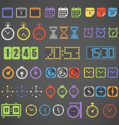 Different color measuring stuff collection vector image vector image