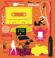 graphic funk vector image vector image