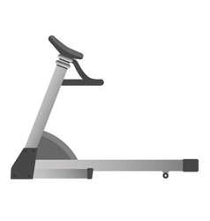 gym fitness equipment treadmill run trainer vector image