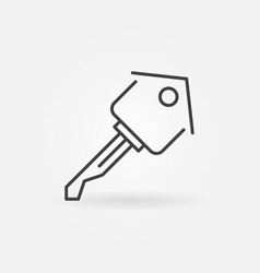 house key icon vector image vector image