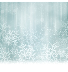 Silver blue snowflake winter background vector image vector image