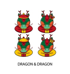 Dragon chinese vector