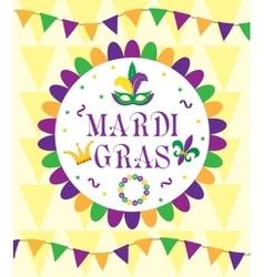 Mardi Gras Carnival template greeting card vector image vector image