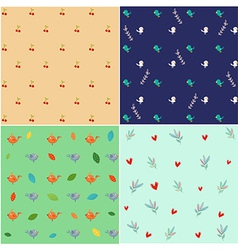 Nature Pattern set vector image vector image