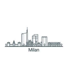 outline milan banner vector image vector image
