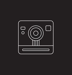 retro camera icon vintage photography vector image