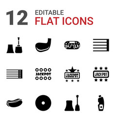 12 poster icons vector