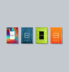 abstract colorful geometric covers design vector image