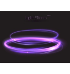 Abstract light effect on transparent background vector