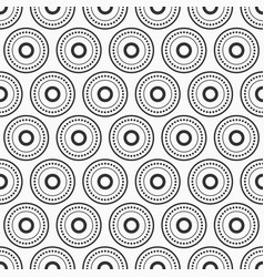 abstract seamless pattern with black dotted vector image