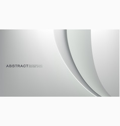 abstract trendy white background with strip curve vector image