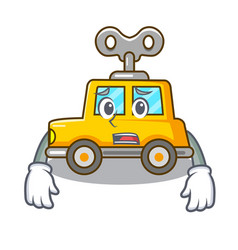 Afraid cartoon clockwork toy car for gift vector
