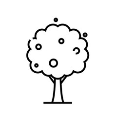 apple tree line icon concept sign outline vector image
